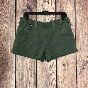 Women's Lucky Brand Shorts 6/28 Khaki Green Cotton
